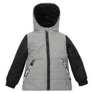 Куртка 22756 серо-черная